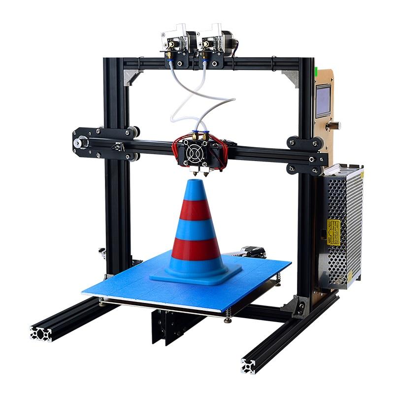 YITE ET-i3 DIY 3d printers Digital 3D Printer High Precision Filament Auto Feeding Metal Frame Dual Nozzle heads Education Use