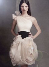 Elegant Design Gossip Girl One Shoulder Floral Skirt Organza Bridesmaid dress 2016 Custom made Sleeveless Wedding Party Dresses