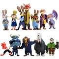 Ação FigureToys Zootopia 12 Pçs/set Nick Wilde Judy Hopps WJ426 Caçoa o Presente Da Boneca Anime Figura de Ação Anime Brinquedo de Plástico