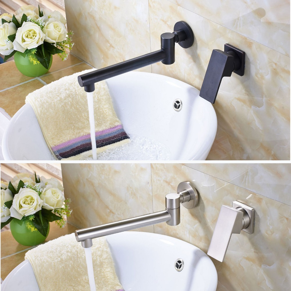 Buy brushed nickle black brass bathroom - Bathroom sink faucets separate hot and cold ...