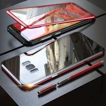 Магнитный чехол с полным покрытием 360 градусов для Samsung Galaxy S10 S10e S10 Plus, для Samsung Galaxy S9 Plus, Note 8 9, с защитной пленкой из закаленного стекла