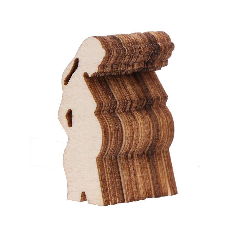 10 pièces femme enceinte forme Laser découpe bricolage Plaque en bois Scrapbooking artisanat décor confettis tranches rustique embellissements O