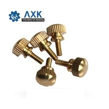 Bolts Knurled Screws Hand-Tighten Brass Copper-Twist M3 M4 Computer-Chass GB834/DIN464