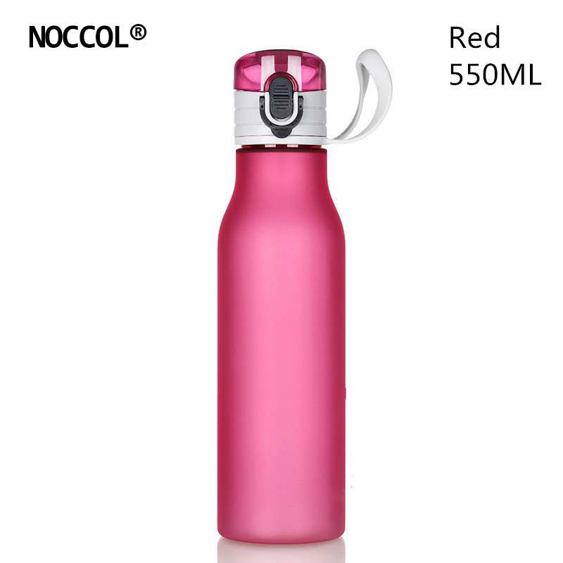 NOCCOL New 550ML Gym Plastic Sport Water Bottles Solid Color Camping Bpa Free Smoothie Watter Bottle Travel Fitness Drinkware ...