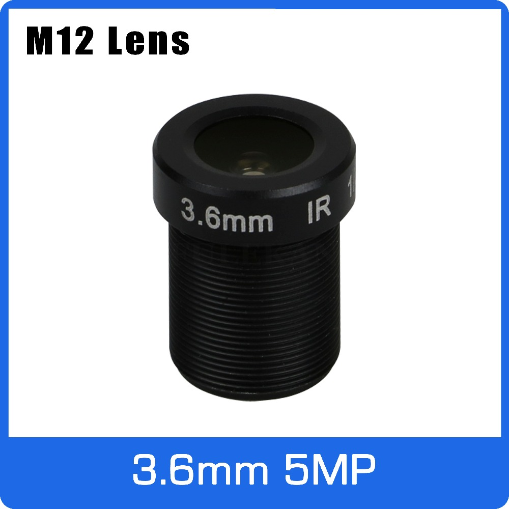 5Megapixel M12 Fixed 1/2.5 Inch 3.6mm 110 Wide Angle CCTV Lens For HD 1080P/4MP/5MP AHD Camera IP Camera Free Shipping