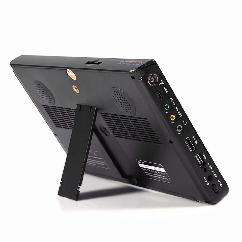 10 Polegada Digital Portátil HD LED TV 1024*600 10 Carro Receptor de Televisão TV Mini Apoio TF Cartão USB de áudio e Vídeo Plugue DA UE