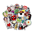 50 pcs/pack Random Classic Fashion Style Graffiti Stickers For Moto car & suitcase cool laptop stickers Skateboard sticker