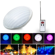 цены на 12v AC/DC Par56 Led Swimming Pool Led 18W IP68 Pond Lights RGB+Remote Controller White Embedded Underwater Light Lamp Spa Party  в интернет-магазинах