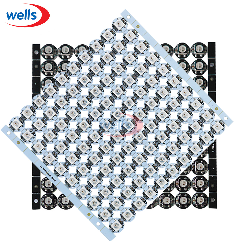 best price 10~100 pcs WS2812B ws2812 LED chips 5V With White/Black PCB Heatsink (10mm*3mm)  WS2811 IC Built-in SMD 5050 RGB