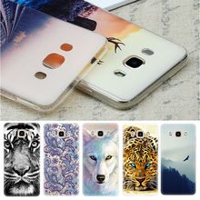 Soft TPU Phone Bags Cases For Samsung Galaxy Grand Prime J1 Mini S3 S4 S5 S6 S7 Edge Note 4 5 J5 2016 Natural Fashion Pattern