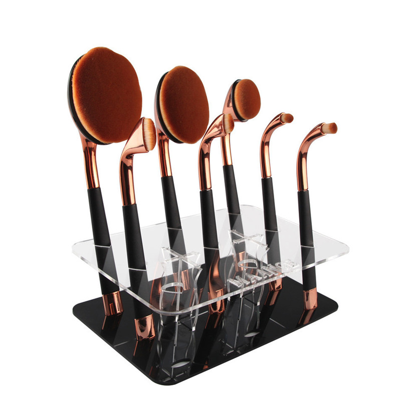 Mint 9 Hole Oval Makeup Brushes professional makeup brushes set toothbrush make up brushes holder May04#2 фен elchim 8th sense milky mint 03082 05