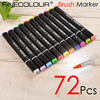 72 P Colors Brush Marker Pen Finecolour Three EF102 Commonly Used Sketch Marker Copic Markers