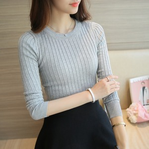 Women Sweater Pullover 2019 New Autumn Winter Green Red Black Gray Tops Women Knitted Pullovers Long Sleeve Shirt Female Brand