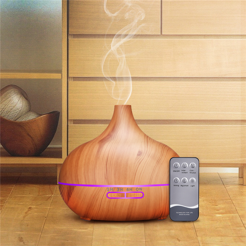 500ml Remote Control Air Aroma Humidifier 7 Color LED Lights Electric Humidifier Aromatherapy Essential Oil Aroma