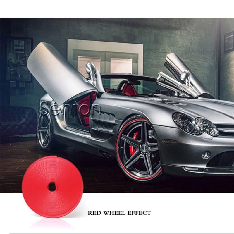 Car-Styling Car Wheel Hub Tire Protector Sticker For Audi A3 A4 B6 B8 B7 B5 A6 C5 C6 Q5 A5 Q7 TT A1 S3 S4 S5 S6 Fiat 500 Punto car carbon fiber spoilers sticker for audi a3 a4 b6 b8 b7 b5 a6 c5 c6 q5 a5 q7 tt a1 s3 s4 s5 s6 s8 accessories