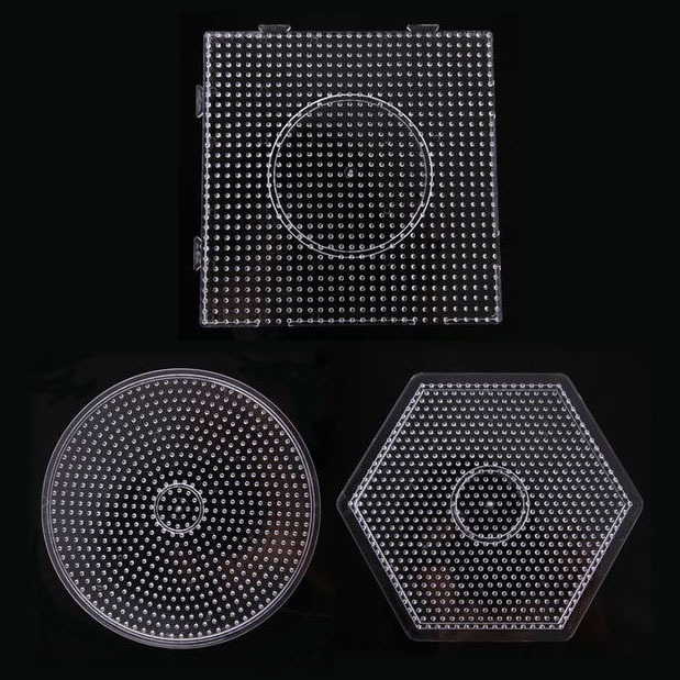 Free Shipping 3pcs Large Pegboards For 5mm Fused Beads For Hama Diy Toy DIY Educational Toy PUPUKOU