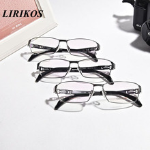 LIRIKOS Pure Titanium Glasses with Delicacy Hollow out Men Business Reading Clear Eye Lens male Spectacle Eyewea