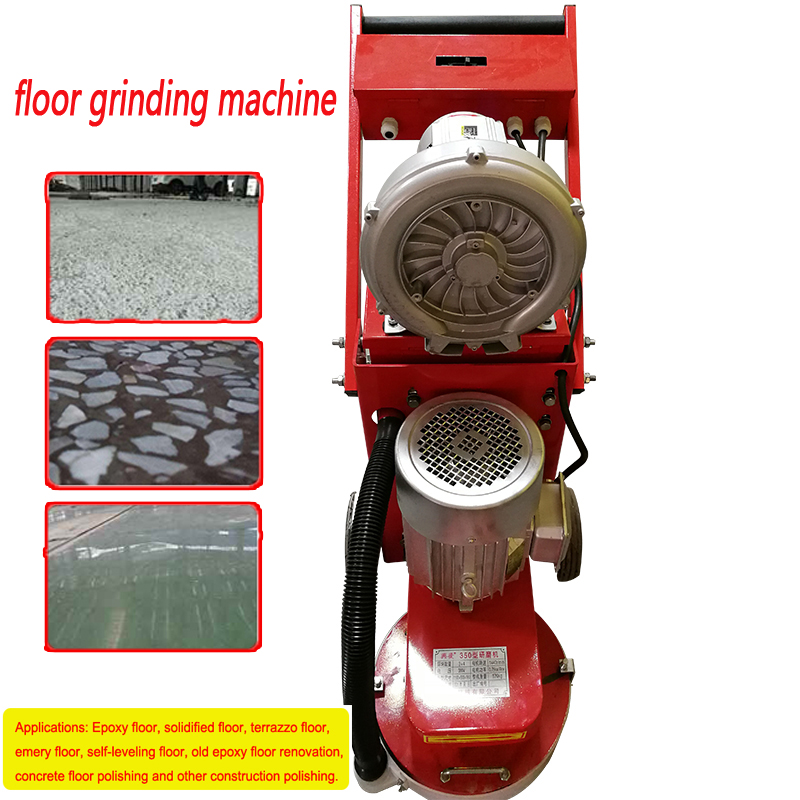 Small floor grinding machine concrete floor grinder polisher vacuuming grinding machine adjustable grinding depth 380V 1pc