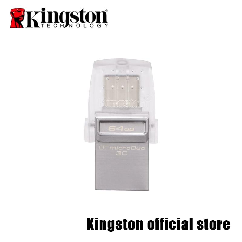 Kingston USB Flash Drive DataTraveler Micro Duo 3C 64GB 32GB 16GB USB 3.1 For PC Phone with Type-C Port