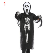 Hot Sale Kids Skull Skeleton Costume Halloween Children Scare Cosplay Clothing