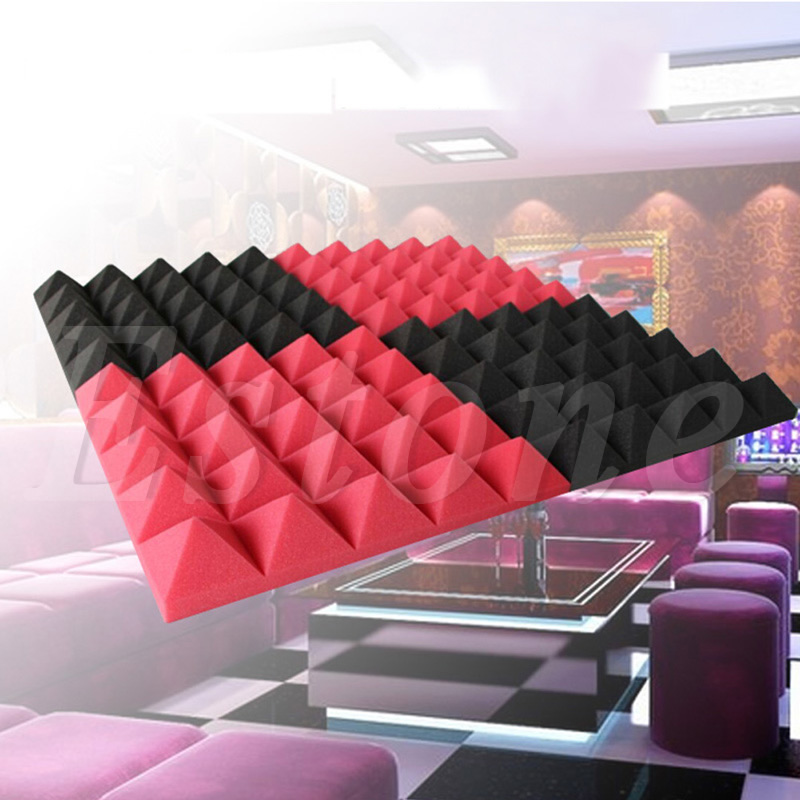 OOTDTY Acoustic Soundproof Sound Stop Absorption Pyramid Studio Foam 50x50cmx5.5cm sound absorption coefficient analysis