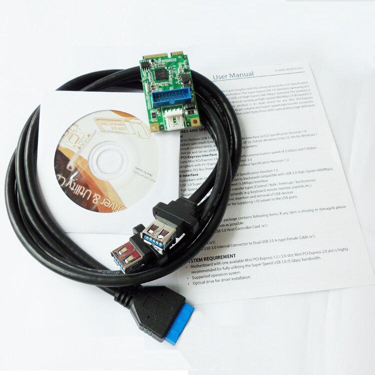 Mini PCIe a adaptador USB 3.0 dual mini PCI-e a 19Pin USB3.0 - Cables de computadora y conectores - foto 4