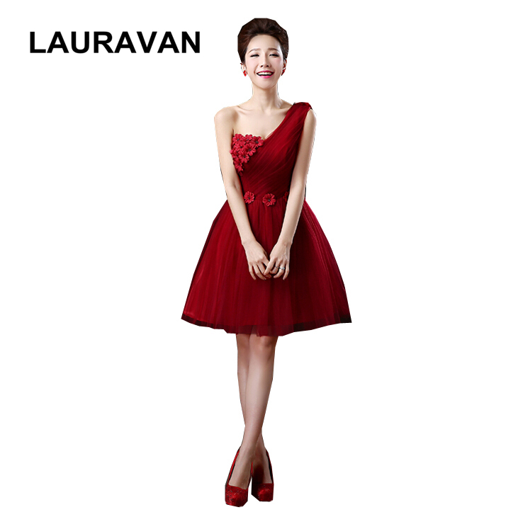 sweet 16 elegant simple burgundy wine red lace tulle girl   bridesmaid     dress   cheap occasion ball   dresses   unique for party 2018