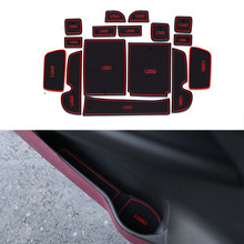 16Pcs/Set Car Styling Slot Pad Interior Door Groove Mat Latex Anti-Slip Cushion For Honda Elysion 2016 Car Internal Dedicated