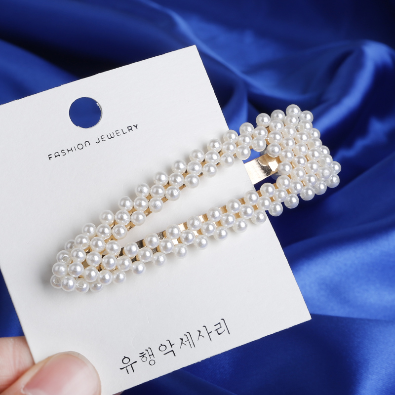 Korean Ins Fashion 8Pcs Pearl hair clips Set Metal Hair pins gold color Barrette Hairpin Beauty Styling Tools Accessories