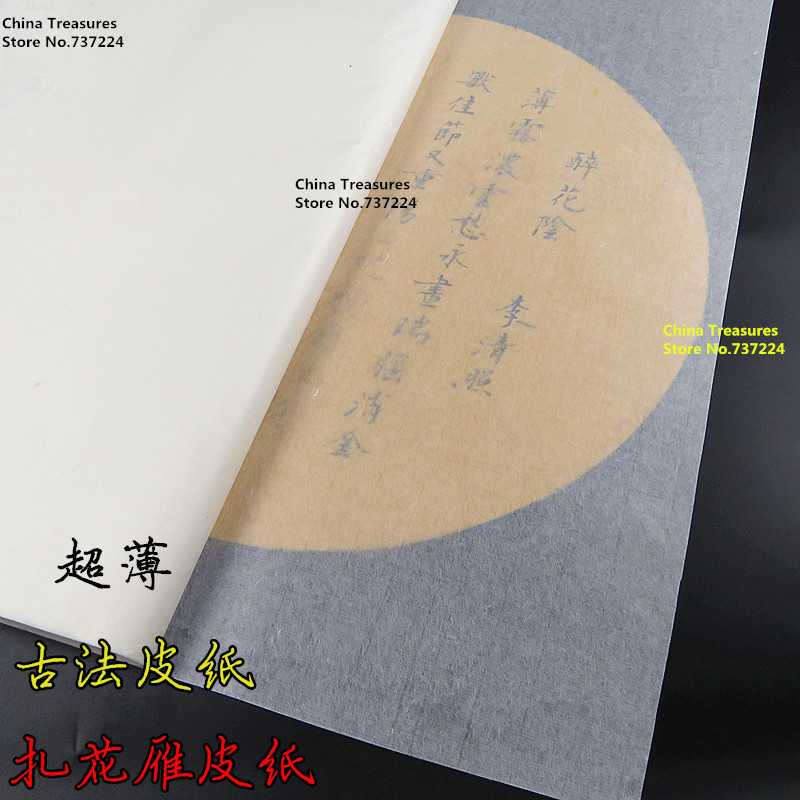 VERY THIN,Transparent,Handmade Chinese Cicada Wings Calligraphy Paper Painting Paper Yan Pi Xuan Paper Xuan Zhi