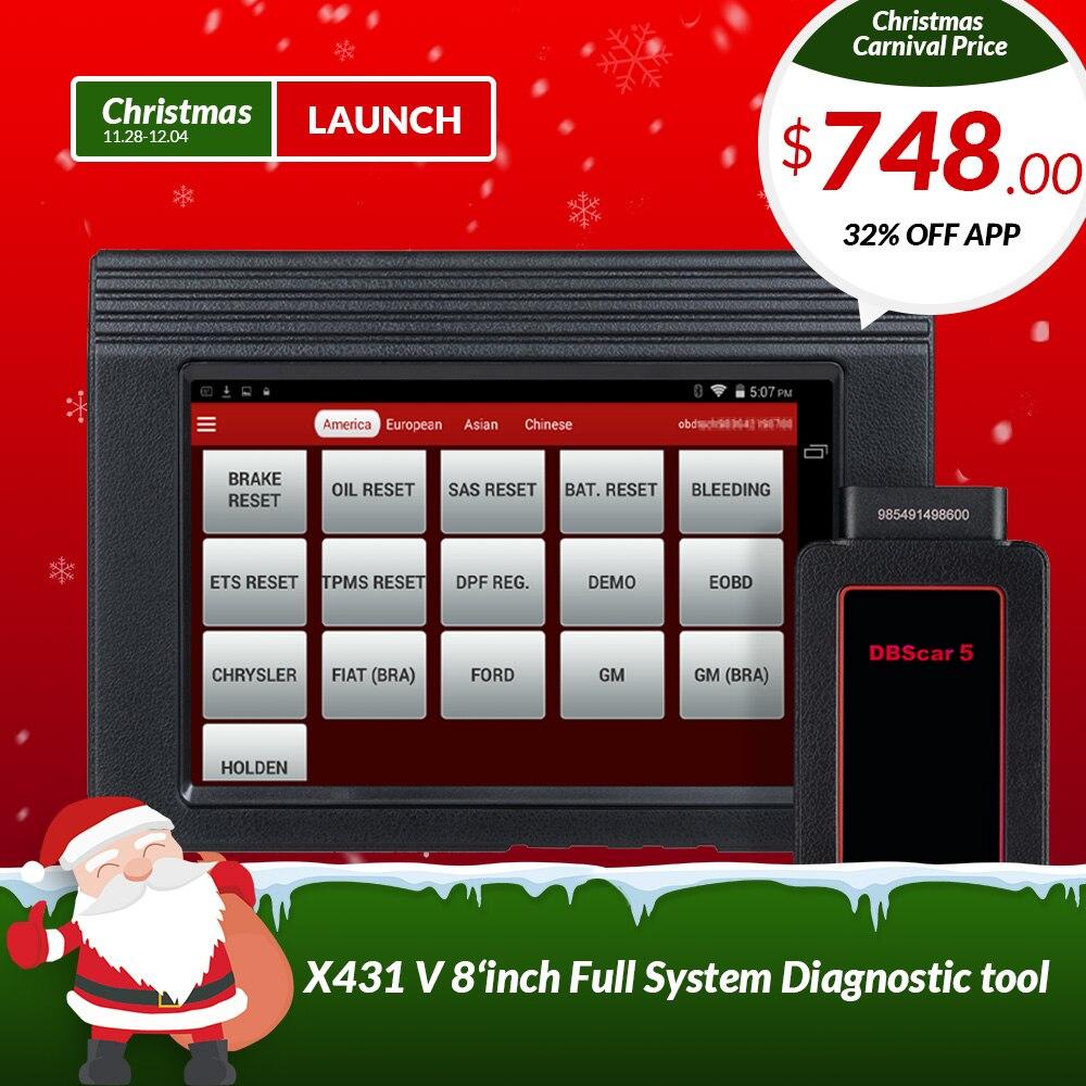 LANCIO X431 V 8 globale versione completa del sistema ECU diagnostica scanner X-431 V obd2 Bluetooth/Wifi Scan strumento utilizzato in 200 paesi