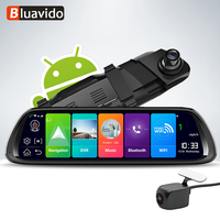 Bluavido 4G Android 8.1 Dash Camera 10 Inch Rear view Mirror GPS Navigation FHD 1080P Car DVR video registrator WiFi Recorder
