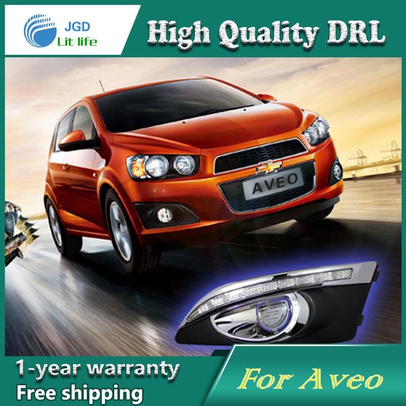 Бесплатная доставка !12В 6000K СИД DRL дневного света чехол для Шевроле Авео противотуманная фара стайлинга автомобилей