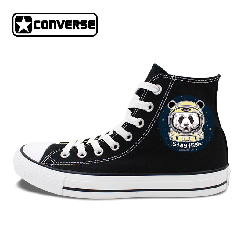 Sneakers Canvas Black Hi-Top Converse Original Design Astronaut Spaceman Panda Shoes Man Woman Chuck Skateboarding Shoes