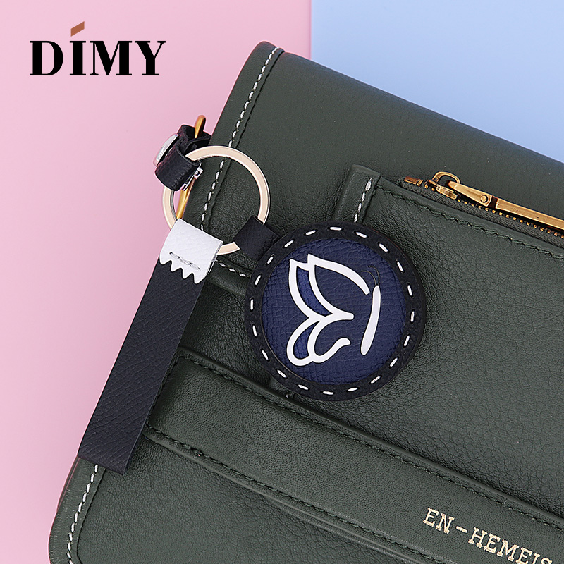 Dimy Handmade Genuine Cowhide Leather Animal Charm Bag Accessories Cute Keychain Pendant Ornaments Wholesale Price Bags Charms