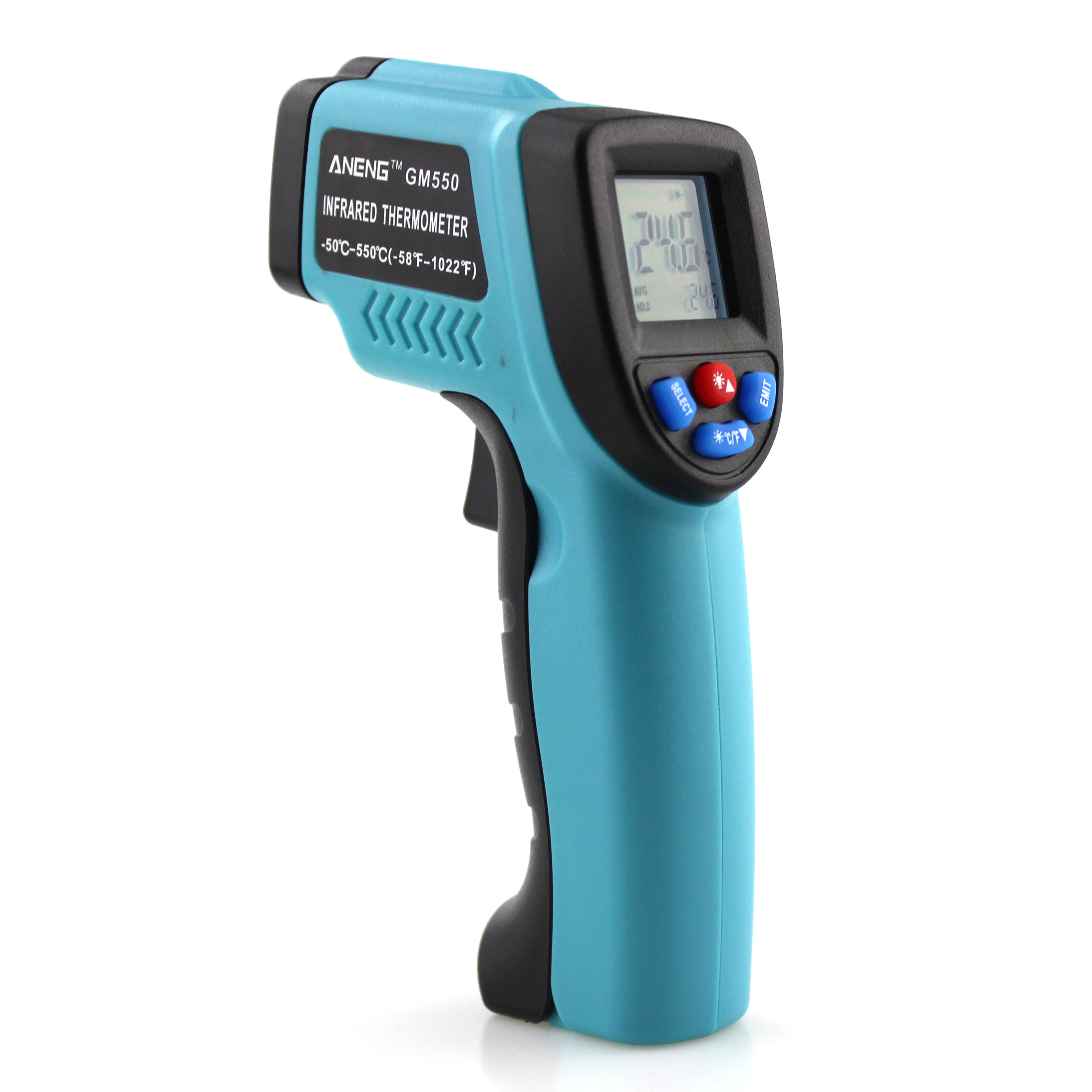 "GM550 -50~550C thermal camera infrared thermometer hygrometer weather station temperature controller 6"" adult termometer image"