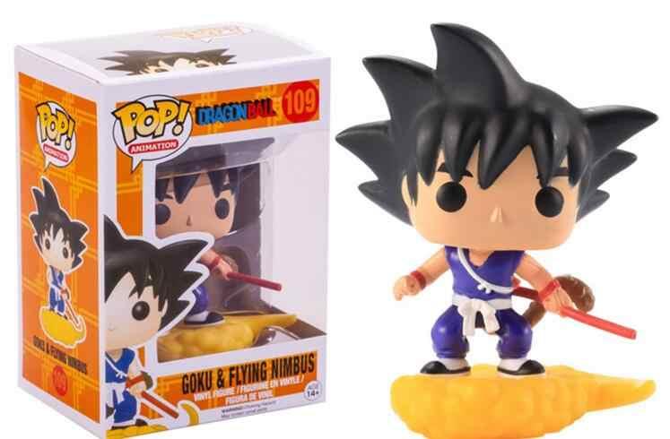 Vinil Funko Pop Anime Dragon Ball Z Super Saiyan Action Figure Coleção Modelo Brinquedos Para Crianças