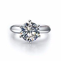Цельное Платиновое PT950 кольцо 2CT блестящее Moissanite бриллиантовое обручальное кольцо для женщин эффектное ювелирное изделие подарок для нее