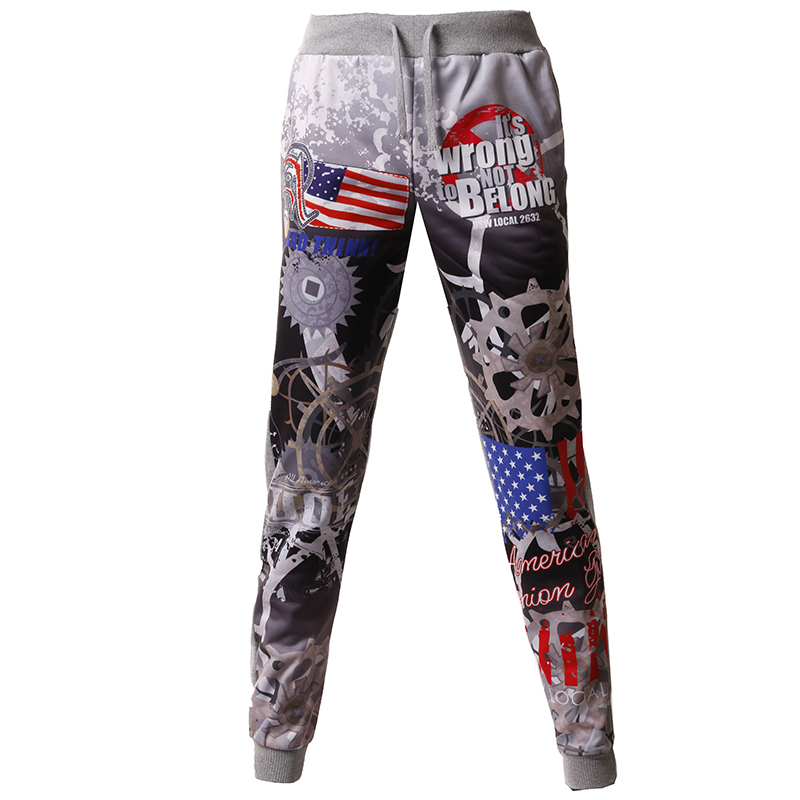 New Arrived 2018 Brand Casual Joggers 3D Mechanical Gear Compression Pants Men Cotton Trousers Calabasas Sweatpants Mens M-XXL
