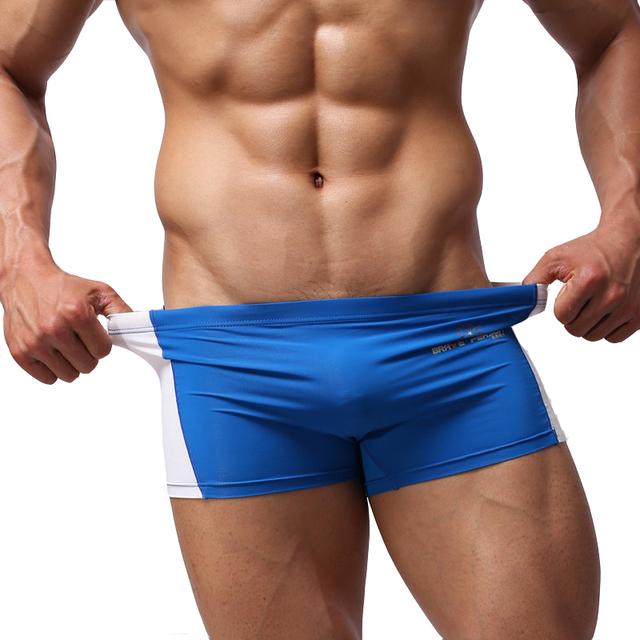 KWAN.Z Men's Shorts Swimwear patchwork simple fashion men's swimwear men board shorts brave person beach shorts zwembroek heren