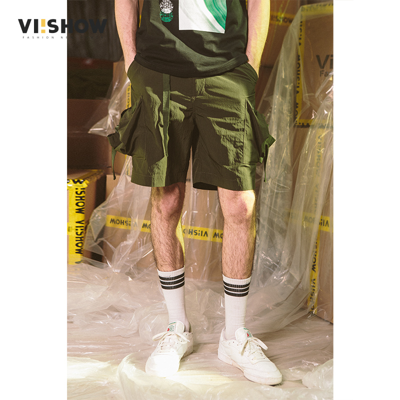 VIISHOW Mens Button fly Cargo Shorts 2018 Brand New Army Green Shorts Men Cotton Loose Workwear Casual Short Pants XXL KD1479182