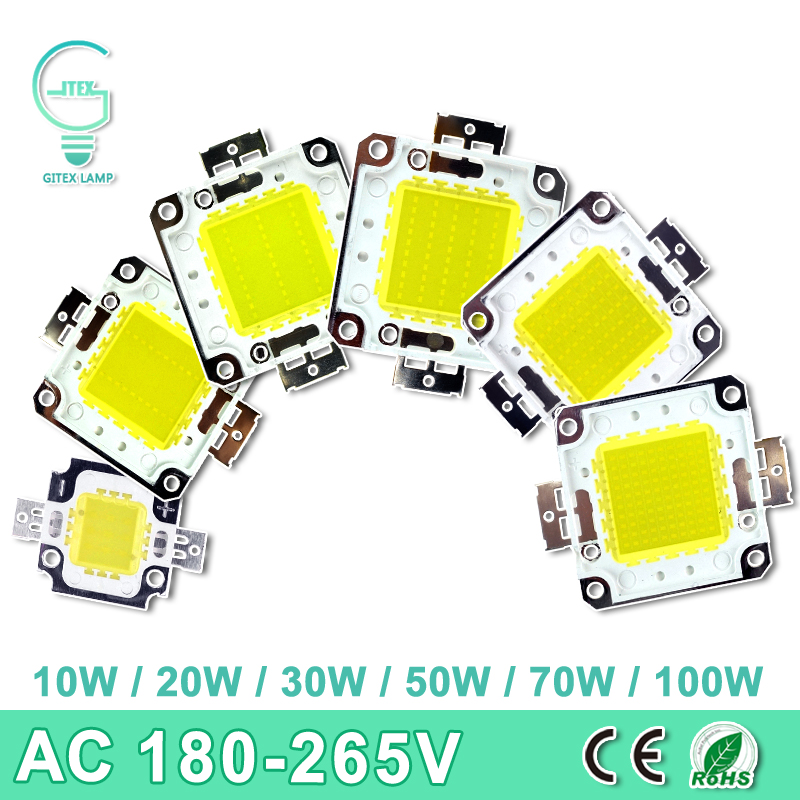LED Lamp Chip 10W 20W 30W 50W 70W 100W DC 10V-32V Integrated chips SMD For LED Floodlight Spotlight Warm Cold White