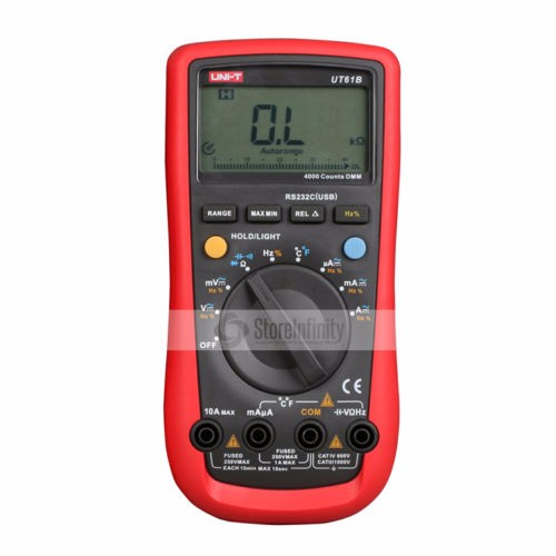 UNI-T UT61B Modern Digital Multimeters Tester UT61B AC/DC Meter uni t ut61b modern digital multimeters 3999 count auto power off temperature tester lcd backlight