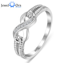 Real 925 Sterling Silver Jewellery Designer Model Rings For Ladies Marriage ceremony Woman Infinity Ring Dimension (JewelOra RI101804)