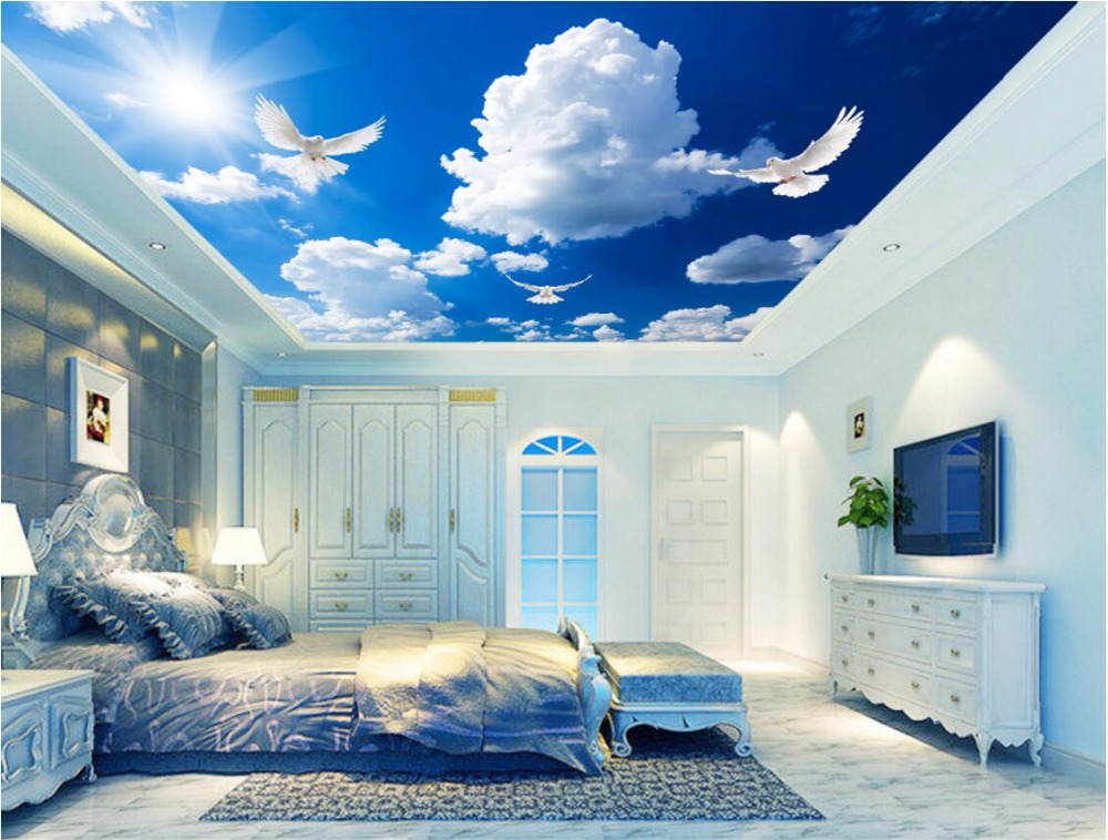 ჱcustom foto d plafond muurschilderingen behang home decor