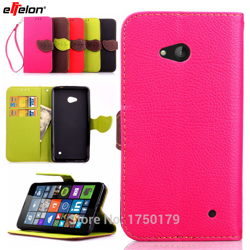 SEASHOR Flip PU Leather Cover Case for Nokia Lumia 640 Magnetic Chip Phone Cases Wallet with Card Holder for Microsoft Lumia 640