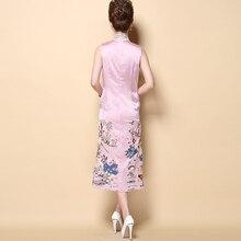 High Quality Handmade Embroidery Vintage Female Dress Chinese Style Women's Modern Long Qipao Cheongsam M L XL XXL XXXL MD002