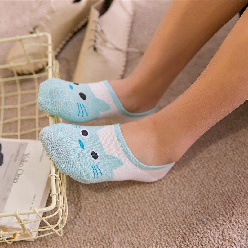 Summer Cartoon Cotton Thin Women Creative Casual Cotton Funny Animals   Socks   for Female Cute Kawayi Girls New Acrylic Boat   Socks