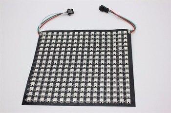 P10mm 16*16 пикселей 256 светодиодов Гибкая мини светодиодная матрица ws2812 WS2812b
