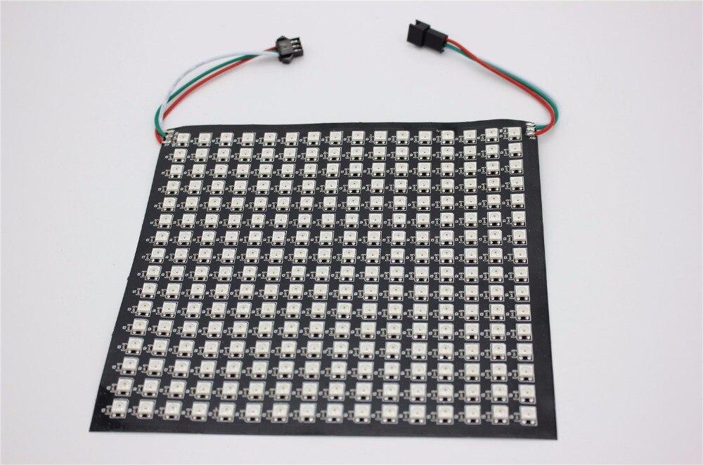 P10mm 16*16 пикселей 256 светодио дный s Гибкая мини светодио дный матрица ws2812 WS2812b